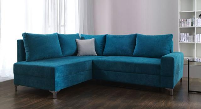 Eckcouch modern  Sofas und Ledersofas LEONA Bettfunktion Designersofa Ecksofa bei ...