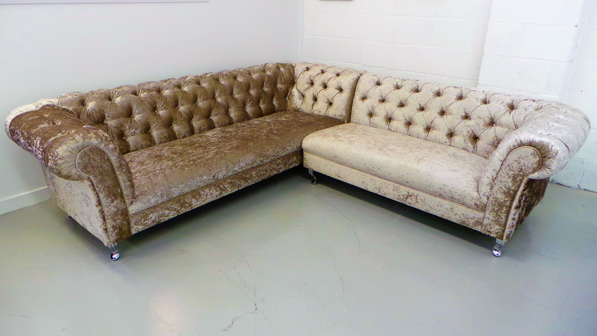 chesterfield ecksofa couch polster neu garnitur sofa ecke ledersofa textil stoff ebay. Black Bedroom Furniture Sets. Home Design Ideas