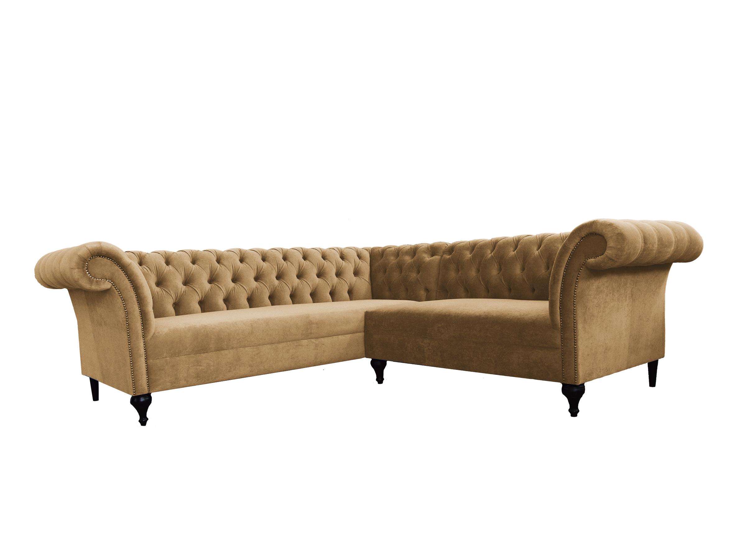 Chesterfield ecksofa eckcouch designer sofa couch samt for Ecksofa 2 60x2 00