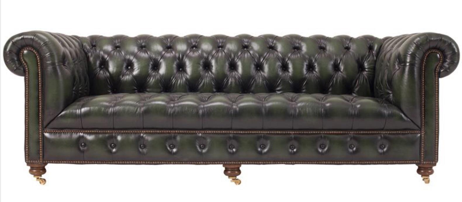 100% Echtes Leder Chesterfield Couch Polster Garnitur Sofa 3 Sitz Sofas Jvmoebel