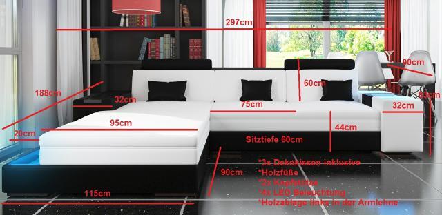 ecksofa textil l form sofa polster couch wohnlandschaft arezzo iii. Black Bedroom Furniture Sets. Home Design Ideas