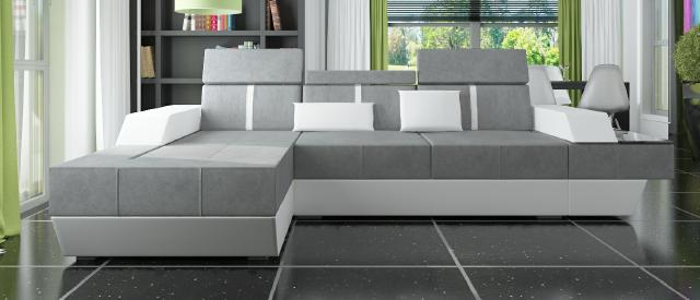 stoffsofa ecksofa textil stoff wohnlandschaft polster neu. Black Bedroom Furniture Sets. Home Design Ideas
