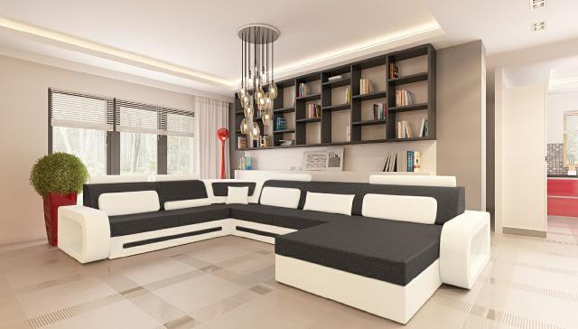 wohnlandschaft couch polster sofa sitz ecke eck wohnlandschaft garnitur textil ebay. Black Bedroom Furniture Sets. Home Design Ideas