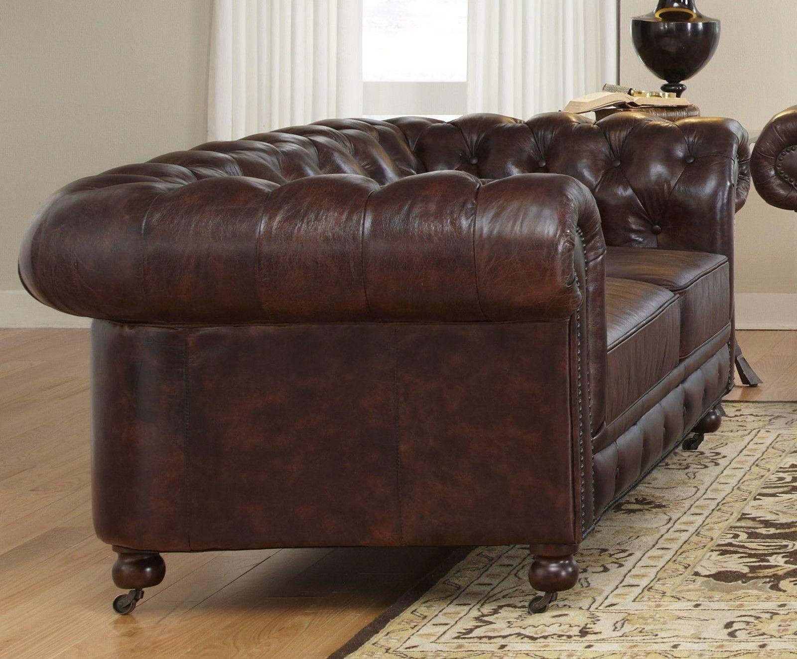 chesterfield sofagarnitur ledersofa textil stoff polster. Black Bedroom Furniture Sets. Home Design Ideas