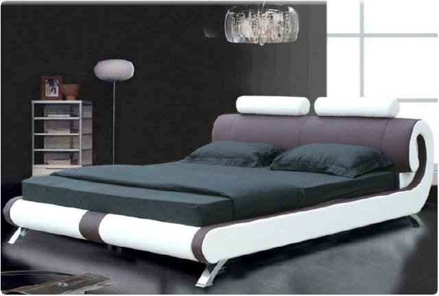 sofort lieferbar bett lederbett polsterbett 140x200 rot weiss doppelbett neu ebay. Black Bedroom Furniture Sets. Home Design Ideas
