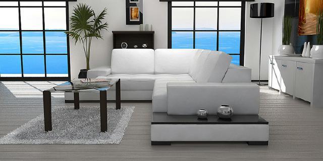 Ledersofa garnitur ecksofa leder eck couch xxl for Ecksofa mit regal