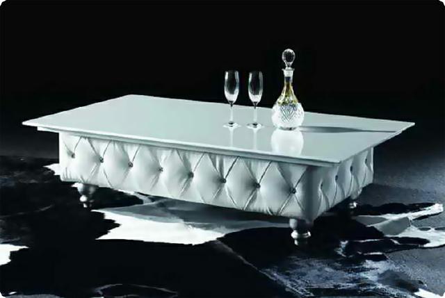 couchtisch pu leder glas tisch couchtische design ebay. Black Bedroom Furniture Sets. Home Design Ideas