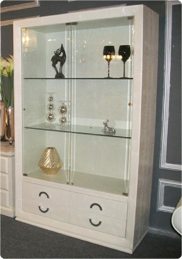 design glas vitrine schrank kommode regal mit steinen ebay. Black Bedroom Furniture Sets. Home Design Ideas