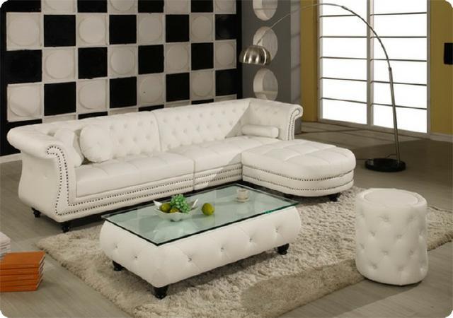 Luxus Designer Chesterfield Sofa Ledersofa Ecksofa Couch