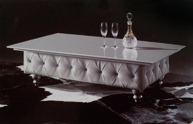 Eleganter Designer Couchtisch Chesterfield Tisch Glastisch Tische Steine Polster