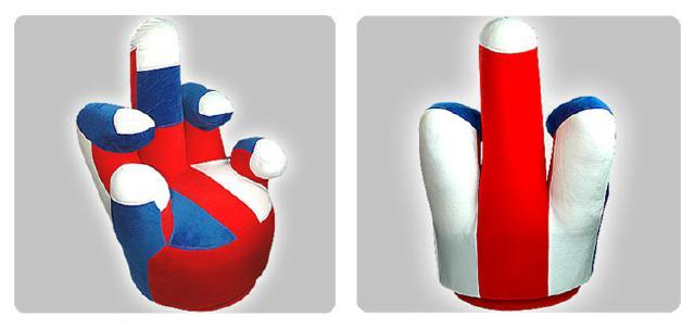 Designer Hand Sessel Mittel Finger Chair Sofa NEU & OVP