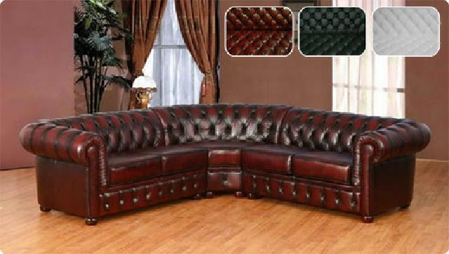 Ledercouch design  LEDER SOFA CHESTERFIELD ECKSOFA LEDERCOUCH ECK COUCH ENGLISH ...