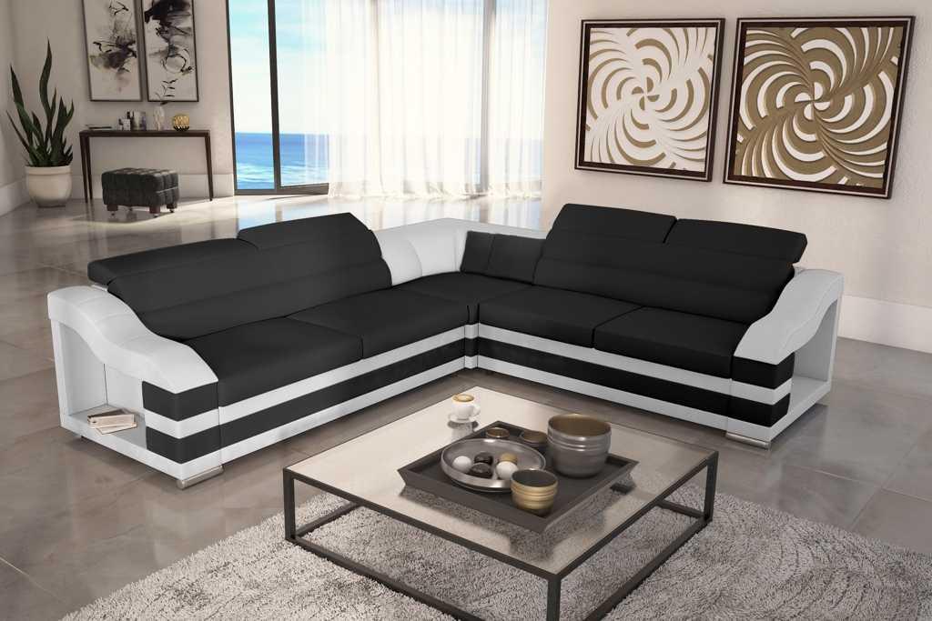 wohnlandschaft couch polster textil stoff leder sitz garnitur eck schlafsofa hb ebay. Black Bedroom Furniture Sets. Home Design Ideas