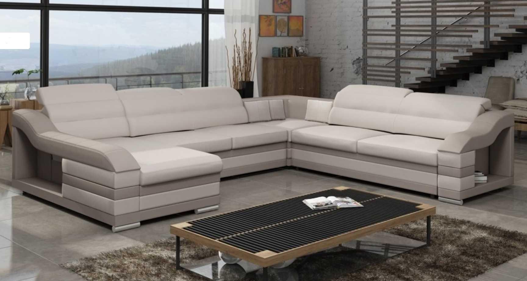 wohnlandschaft couch polster textil stoff leder sitz garnitur eck schlafsofa hc ebay. Black Bedroom Furniture Sets. Home Design Ideas