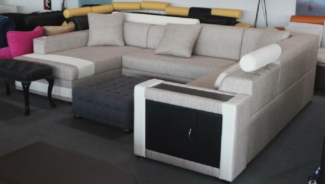 wohnzimmer bar dresden:wohnzimmer bar dresden : Details zu Designer XXL Textil Stoff Eck Sofa
