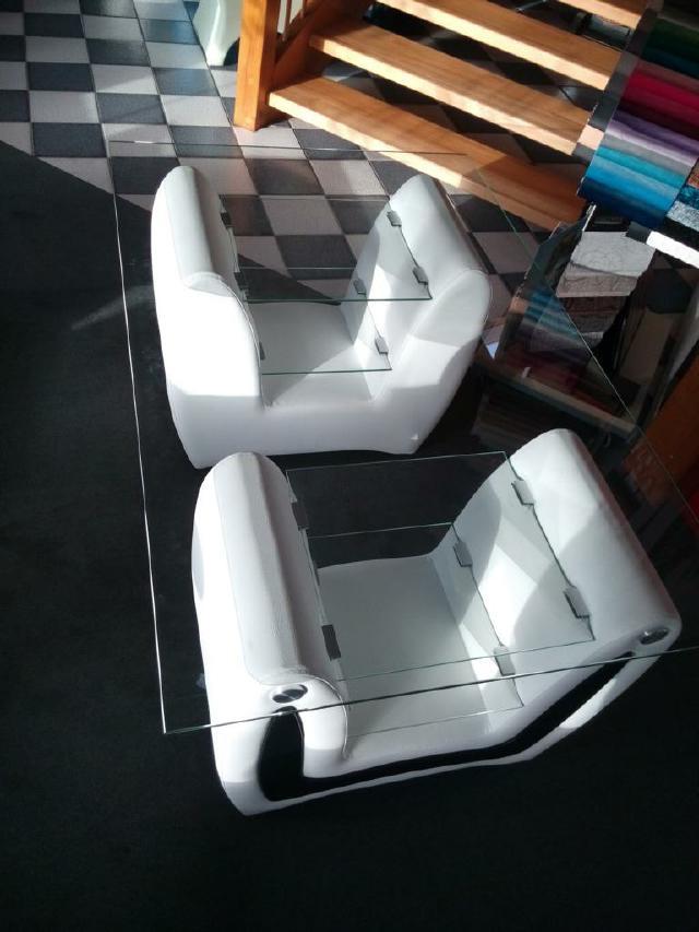 Couchtisch XXL 120x90x65cm Designer Tisch Glastisch Tische