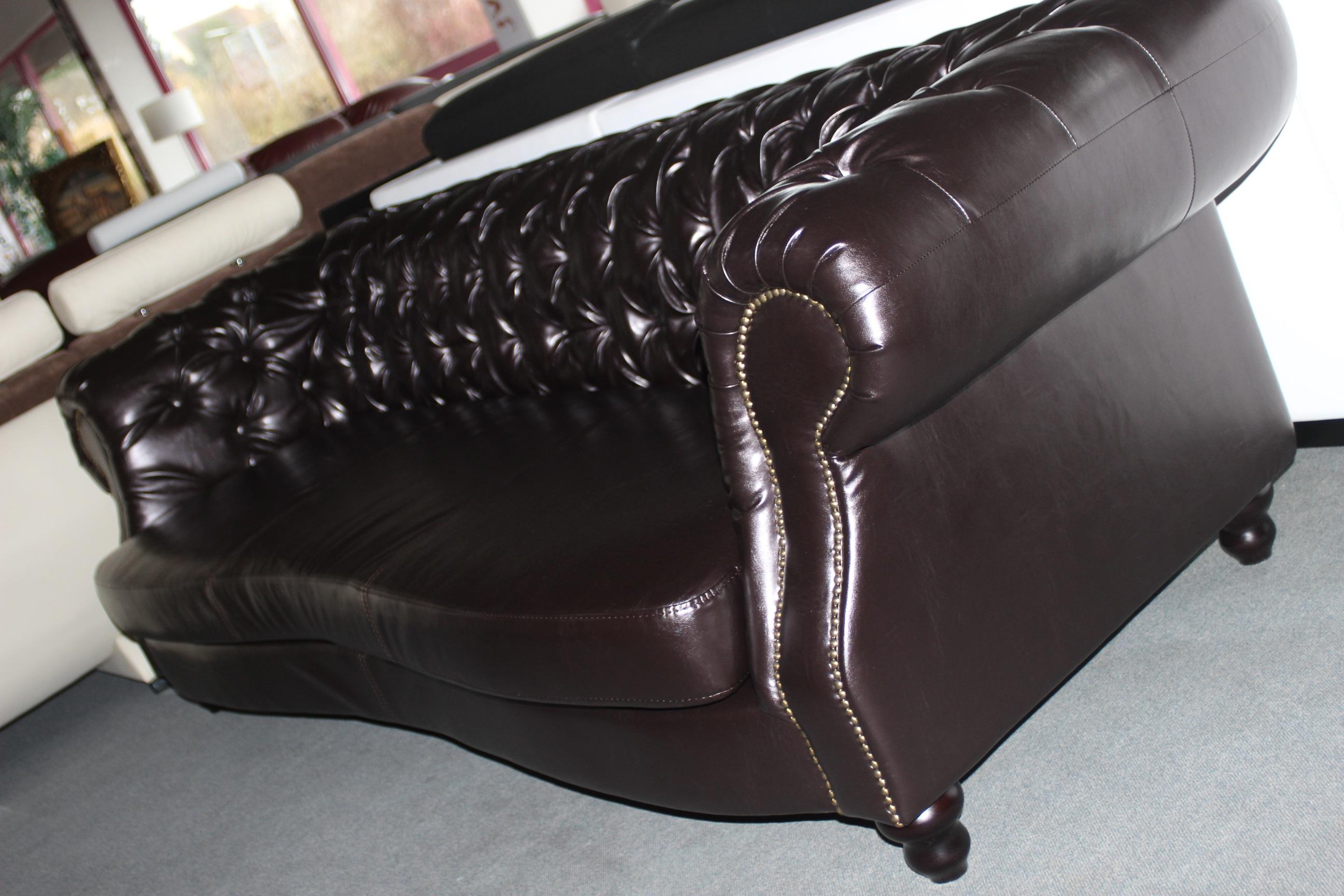 ledersofa xxl big sofa vintage 2 50 3 0m leder couch design chesterfield luxury ebay. Black Bedroom Furniture Sets. Home Design Ideas