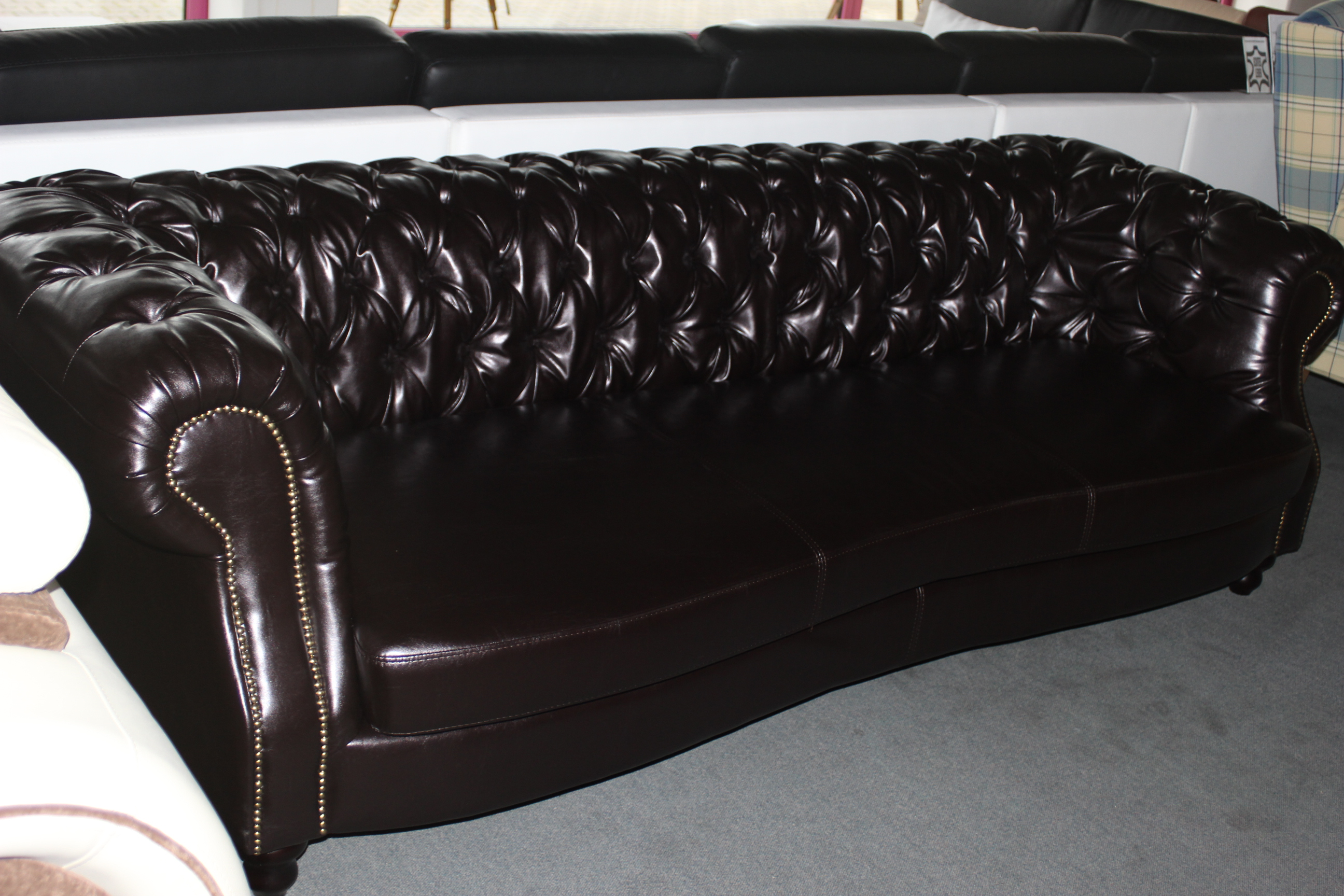 big sofa england 250cm o 300cm silber kupfer ledersofa xxl design chesterfield ebay. Black Bedroom Furniture Sets. Home Design Ideas