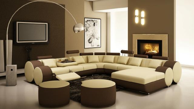 zeigt mir euer wohnzimmer:wohnzimmer beige grün : JVmoebel Ledersofa Couch Sofa Ecksofa Modell