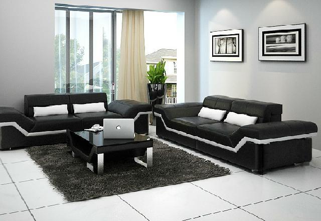 Ledersofa BIG Sofa 3 3 Sitzer Design Sofa Polster Leder Garnitur Couch ...