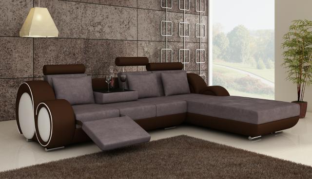 Designer couch  Designer Sofa Ecksofa Textilsofa Sofa Couch Wohnlandschaft mit ...