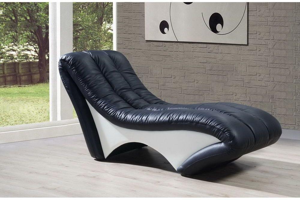 designer leder chaiselongues liege ottomane sofa echtes. Black Bedroom Furniture Sets. Home Design Ideas