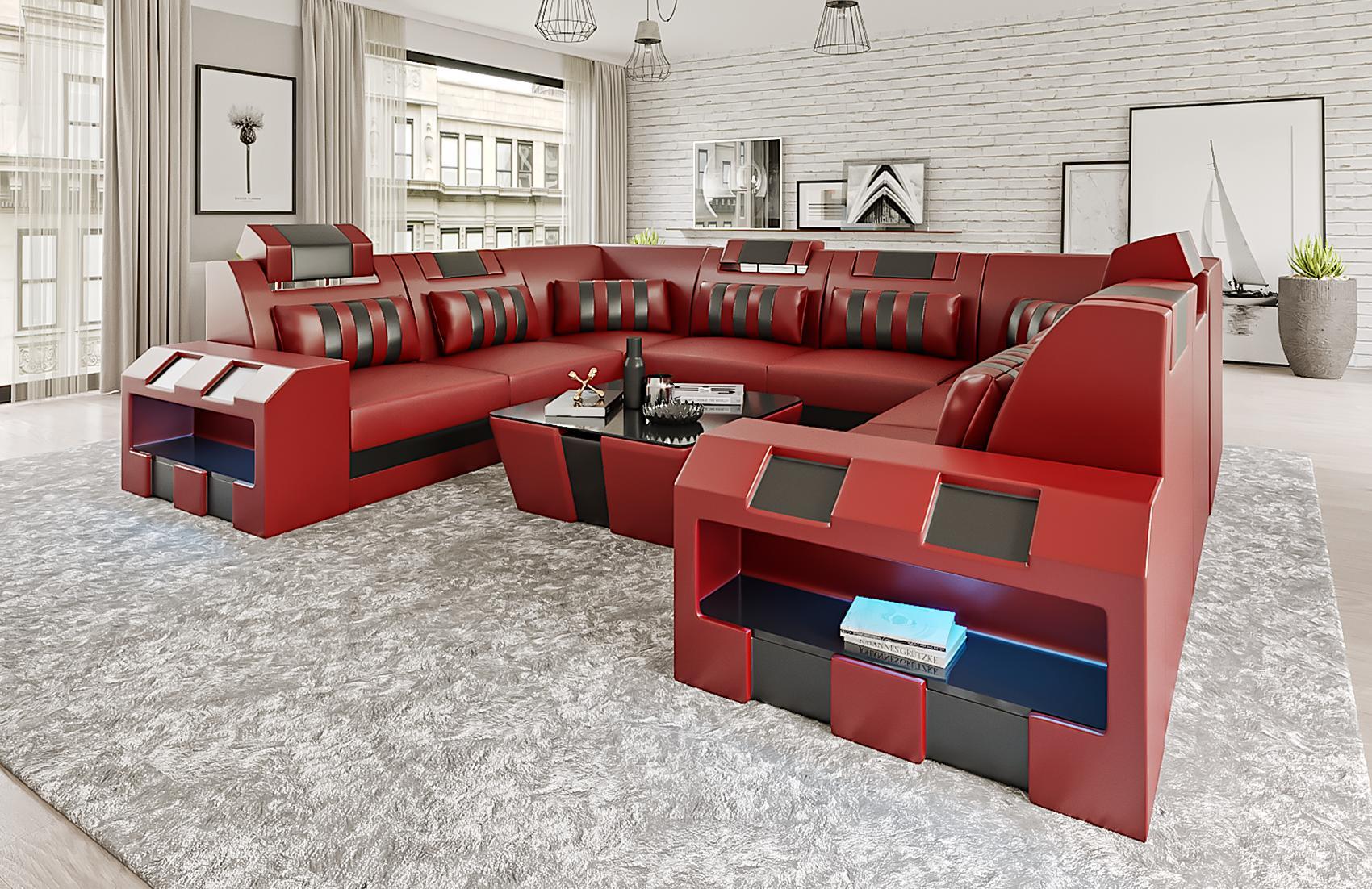 big xxl designer wohnlandschaft couch polster ecksofa u form ledersofa v1 beige ebay. Black Bedroom Furniture Sets. Home Design Ideas