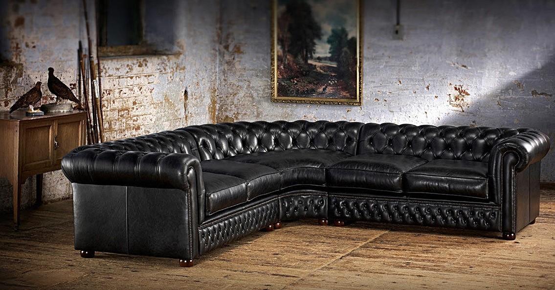 chesterfield ecksofa sofa couch polster eckgarnitur ledersofa englischer stil ebay. Black Bedroom Furniture Sets. Home Design Ideas