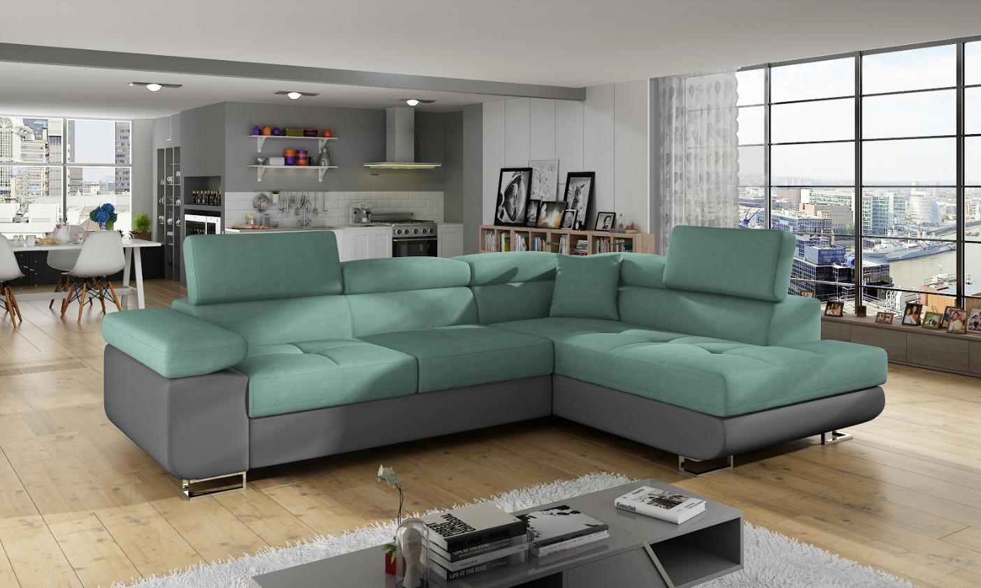Bettfunktion sofa couch ecksofa eckcouch polster ecke for Ecksofa textil