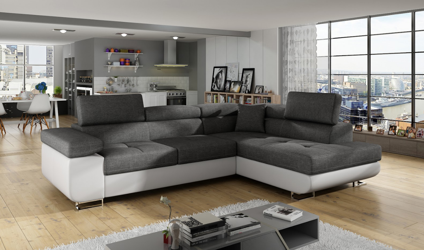 Bettfunktion sofa couch ecksofa eckcouch polster ecke for Ecksofa polster