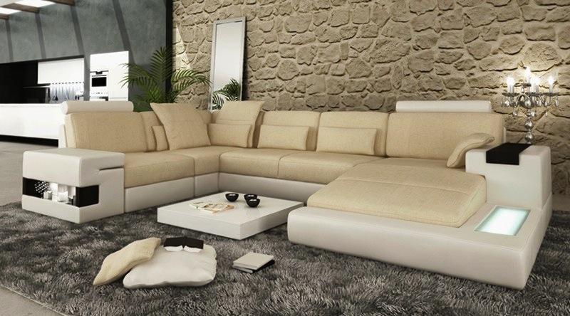 Ecksofa Sofa Couch Polster U Form Wohnlandschaft Bellini Design