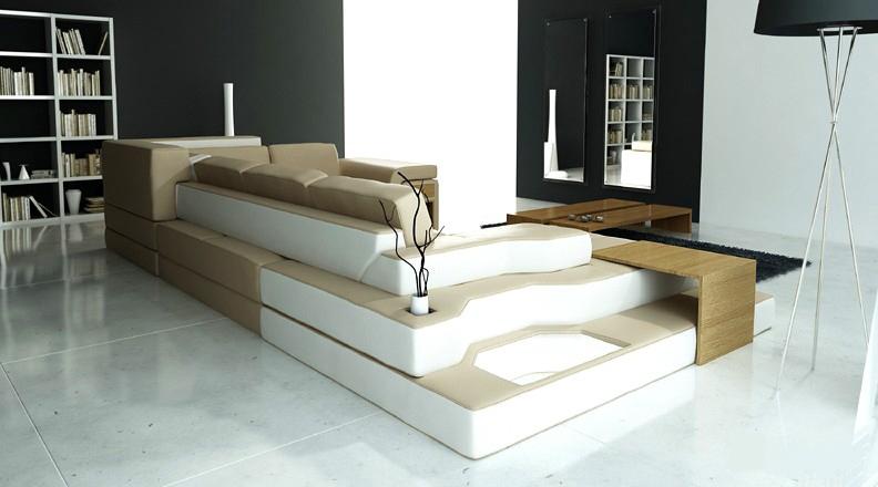 xxl design big sofa ecksofa couch wohlandschaft u form leder textil ecke ph51 bd ebay. Black Bedroom Furniture Sets. Home Design Ideas
