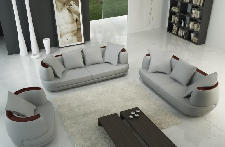Ledersofa Sofagarnitur 321 Couch Sitz Polster Sofa Garnitur Set