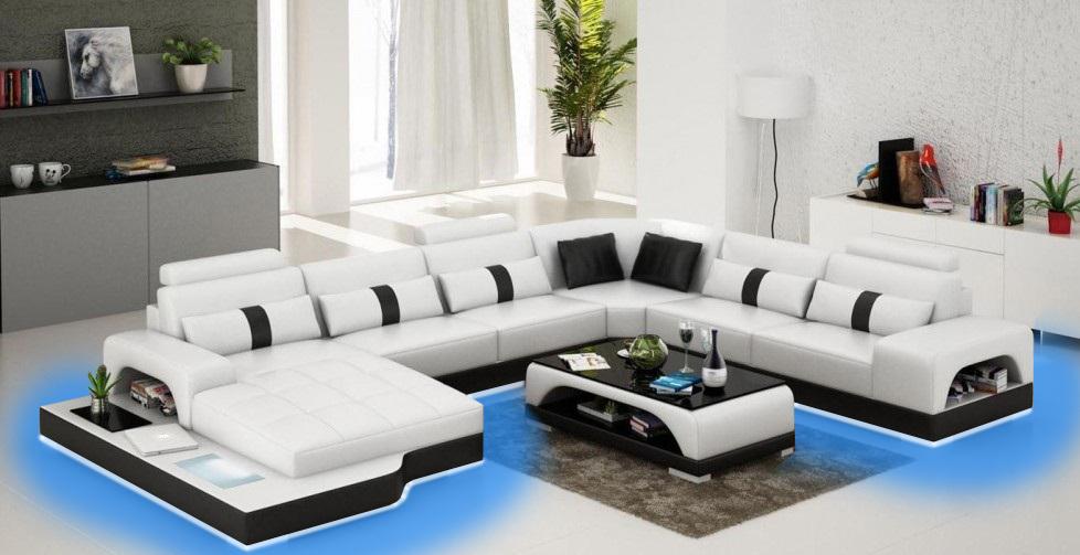 leder u form wohnlandschaft couch big xxl sofa polster. Black Bedroom Furniture Sets. Home Design Ideas