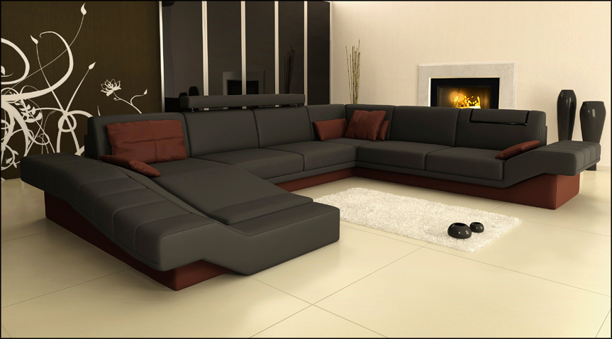 wohnlandschaft designer sofa couch big polster leder sofas eck ecke sitz ph3002 ebay. Black Bedroom Furniture Sets. Home Design Ideas