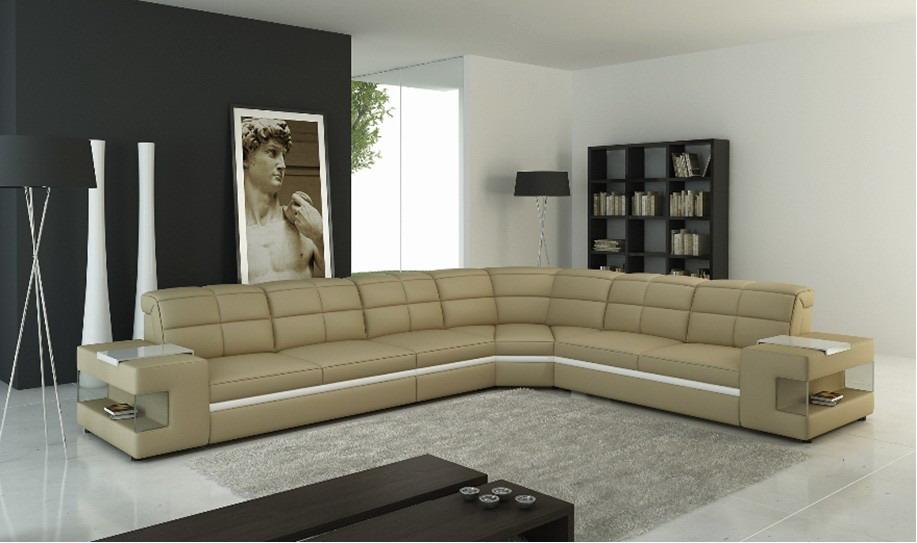 ledersofa wohnlandschaft couch polster ecksofa sofa l. Black Bedroom Furniture Sets. Home Design Ideas