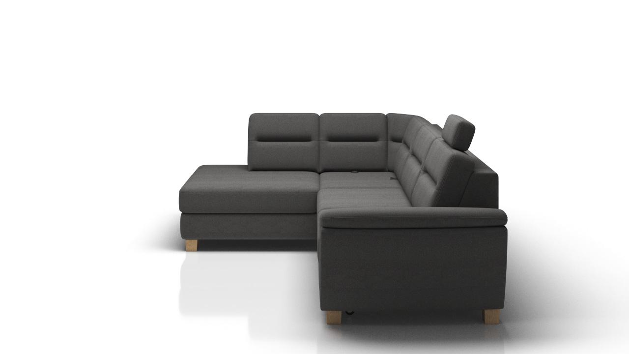 stoff l form couch wohnlandschaft ecksofa garnitur modern design sofa bianco ebay. Black Bedroom Furniture Sets. Home Design Ideas