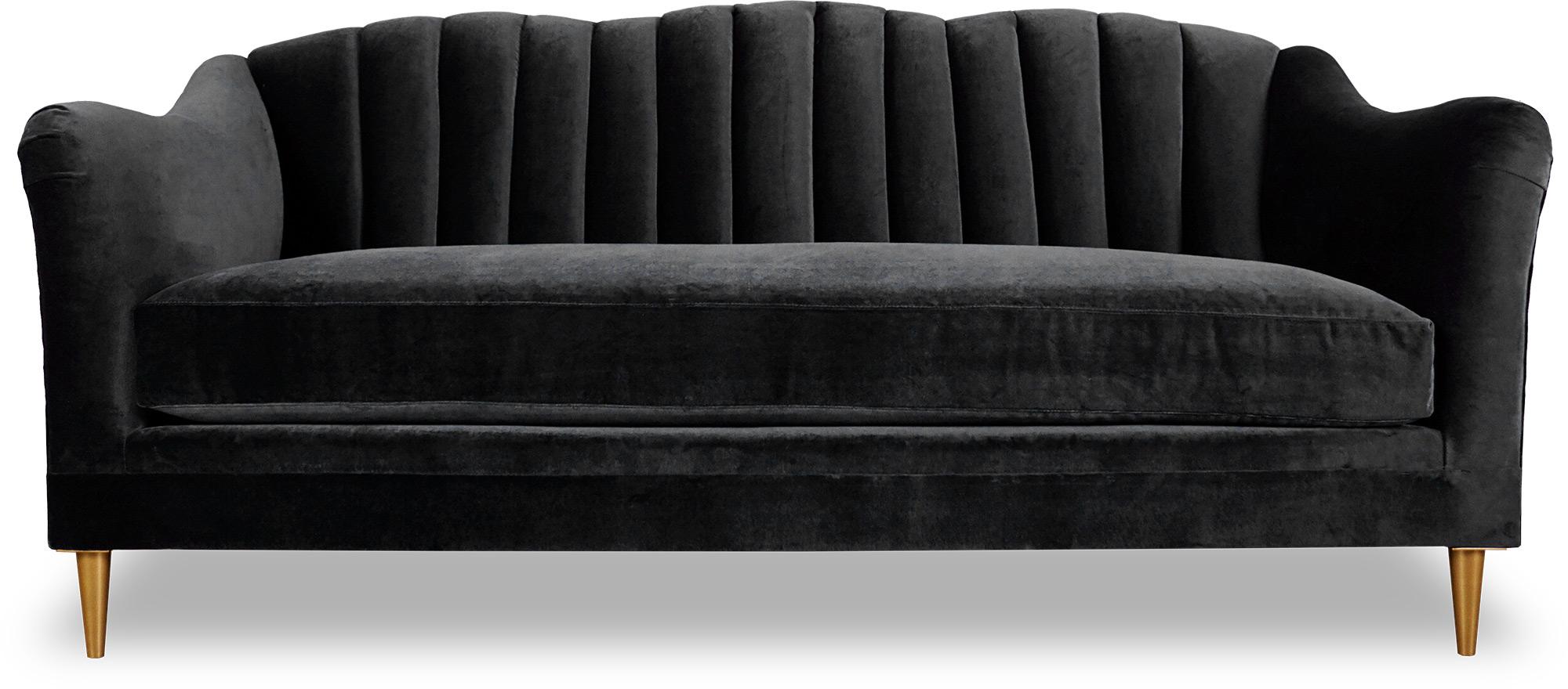 Design Schwarz Sofa 3 Sitzer Chesterfield Stoff Couch Sofa ...
