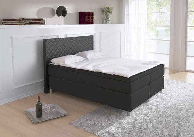 jvmoebel polsterbett lederbett bett boxspringbett box3 180x200cm. Black Bedroom Furniture Sets. Home Design Ideas