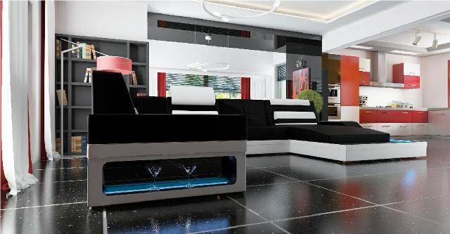 wohnlandschaft ecksofa polster couch sofa garnitur eck. Black Bedroom Furniture Sets. Home Design Ideas