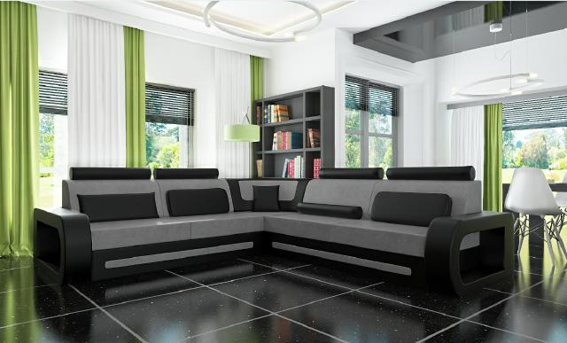 sofas und ledersofas davos 2 bettfunktion designersofa ecksofa bei jv m bel. Black Bedroom Furniture Sets. Home Design Ideas