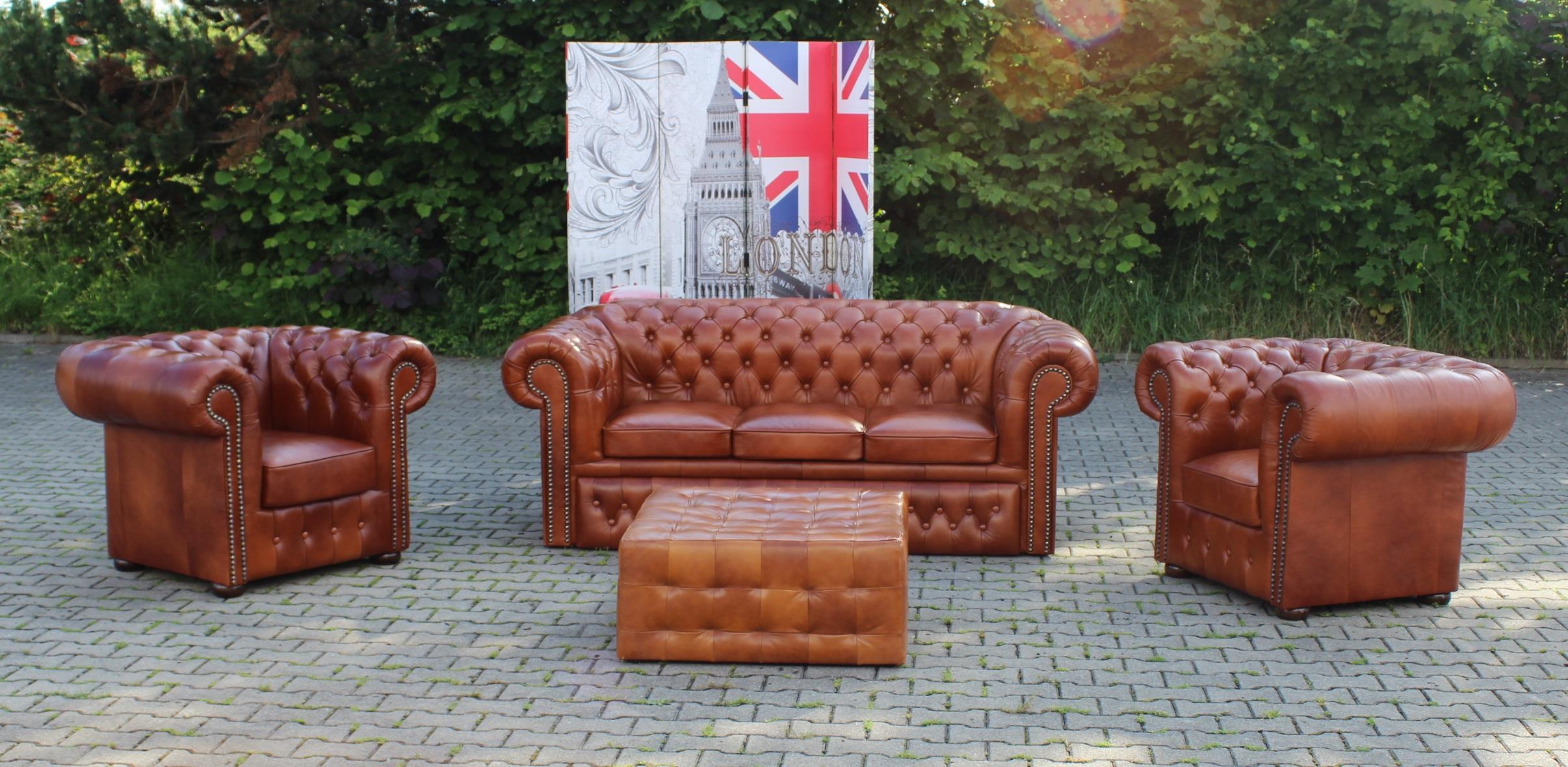 Malerisch Leder Sofa Garnitur Foto Von Sofagarnitur Naxford 3+2+1+hocker
