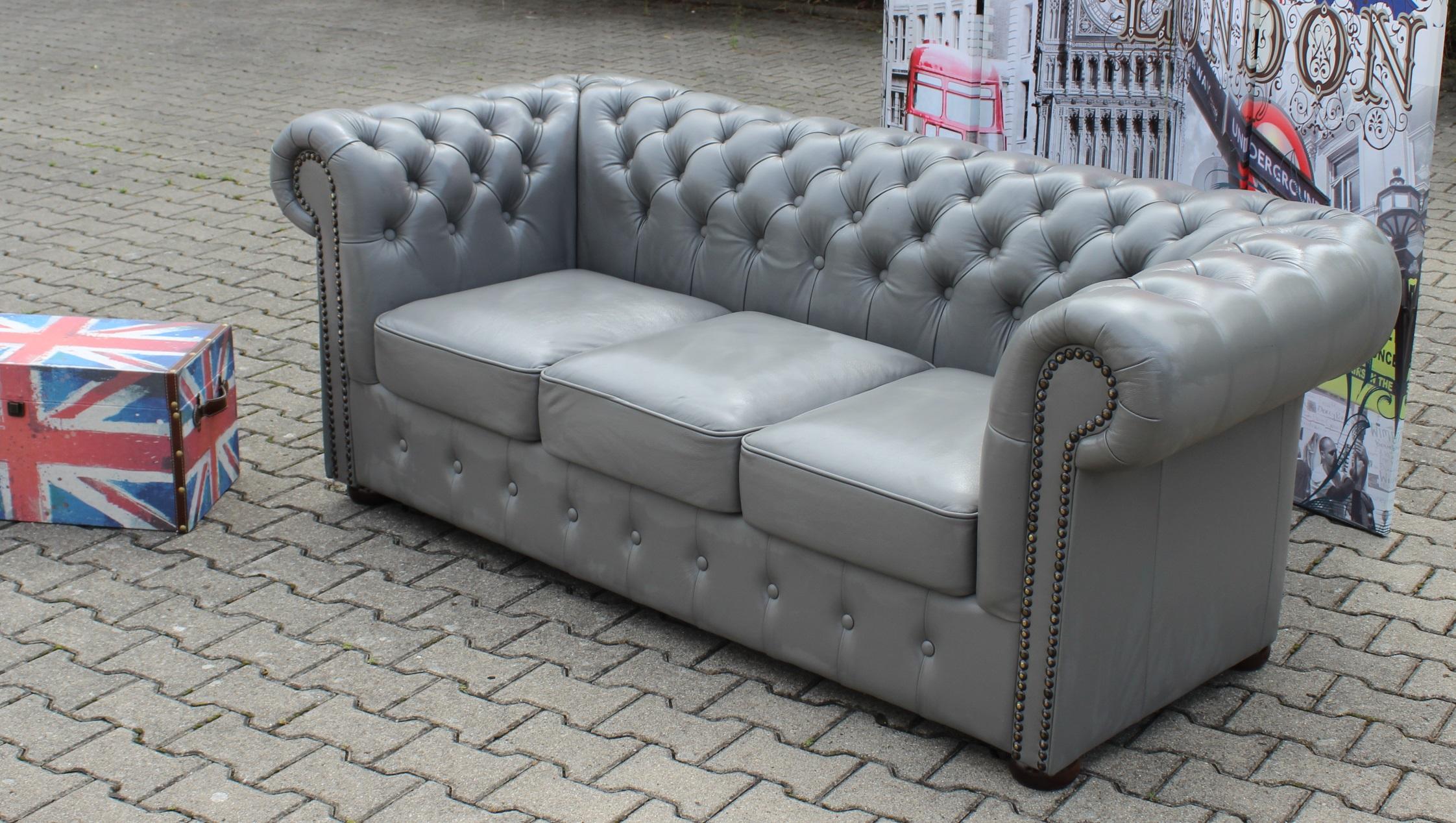 chesterfield sofa napoli designer couchgarnitur sofort lieferbar ledersofa neu ebay
