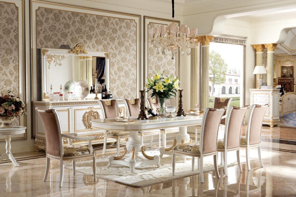 Königliche Möbel Esszimmer Set Garnitur Esstisch Tisch 6