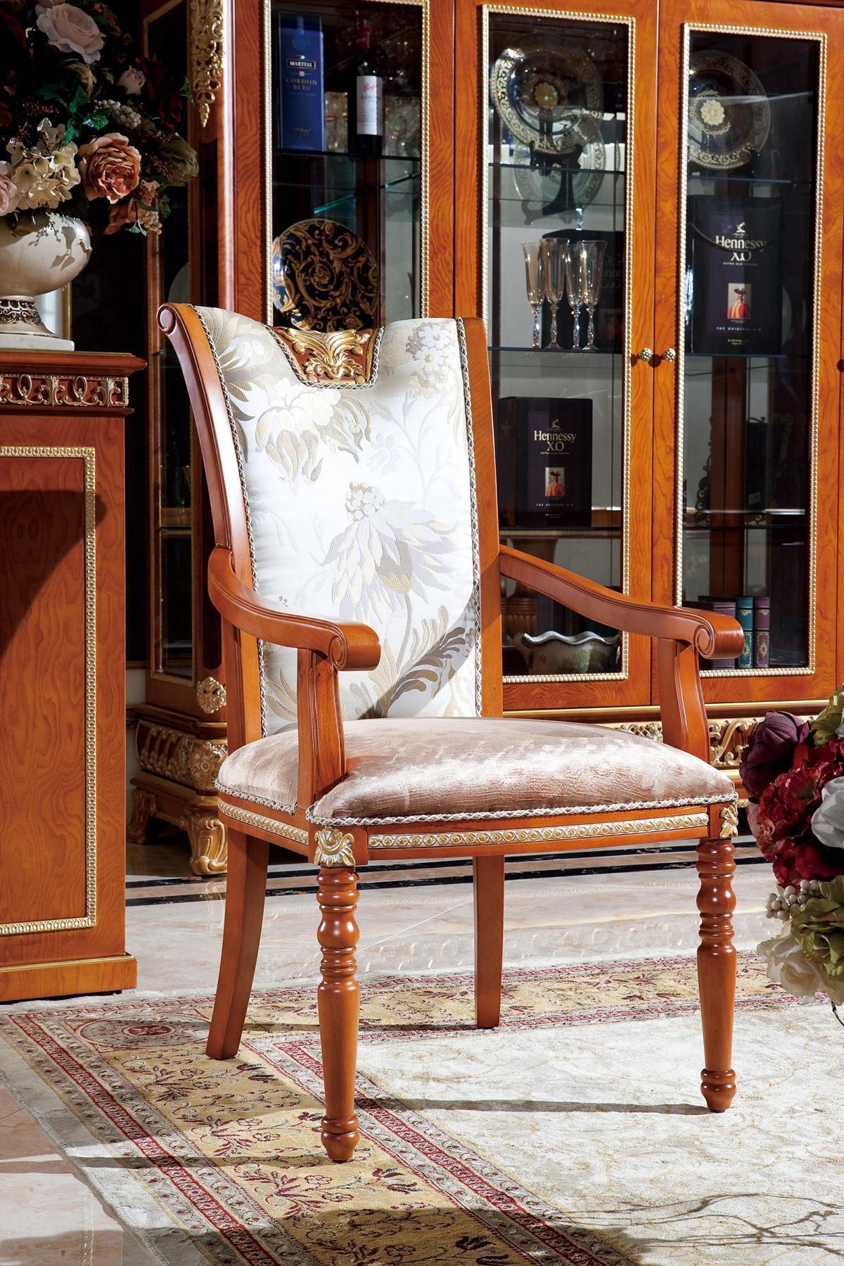 Dettagli su 6 Sedie Set Sala da Pranzo Designer Legno Rifiniture E62 Stile  Antico Barocco
