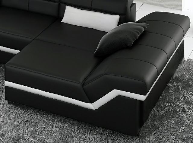 ledersofa ecksofa polster neu wohnlandschaft leder couch. Black Bedroom Furniture Sets. Home Design Ideas